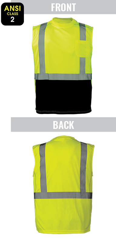 GLO-202 - FrogWear® HV - High-Visibility Premium Sleeveless Safety Shirt
