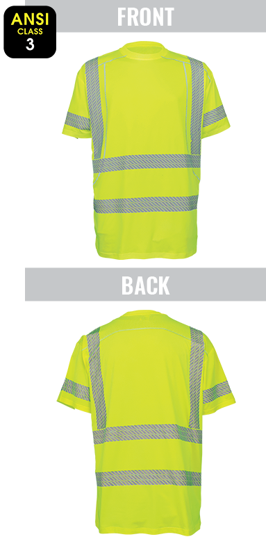 GLO-205 - FrogWear® HV - High-Visibility High Performance Stretch Short Sleeved Shirt