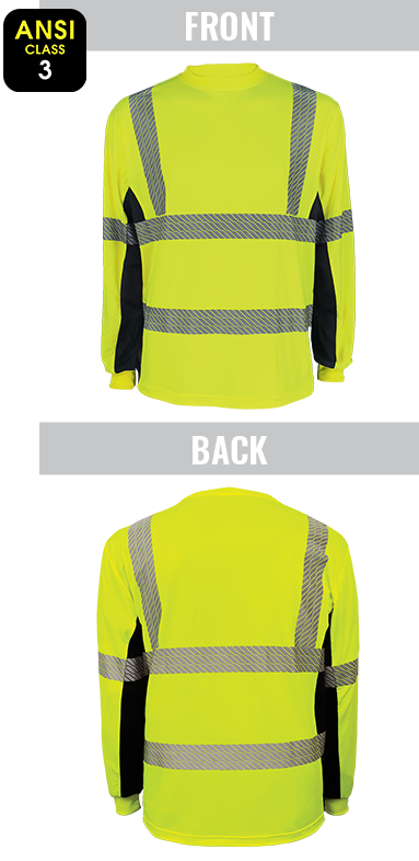 GLO-225LS - FrogWear® HV - High-Visibility High Performance Stretch Shirt