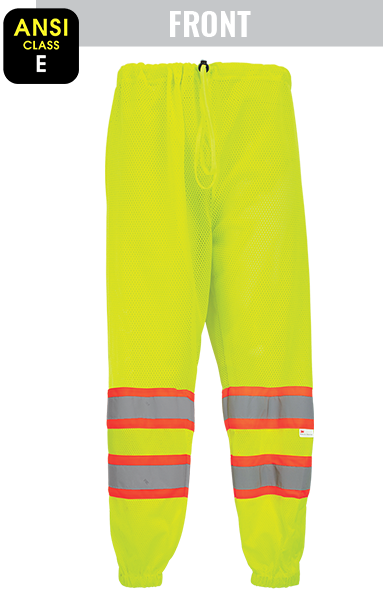 GLO-2P - FrogWear® HV - High-Visibility Mesh Polyester Safety Pants