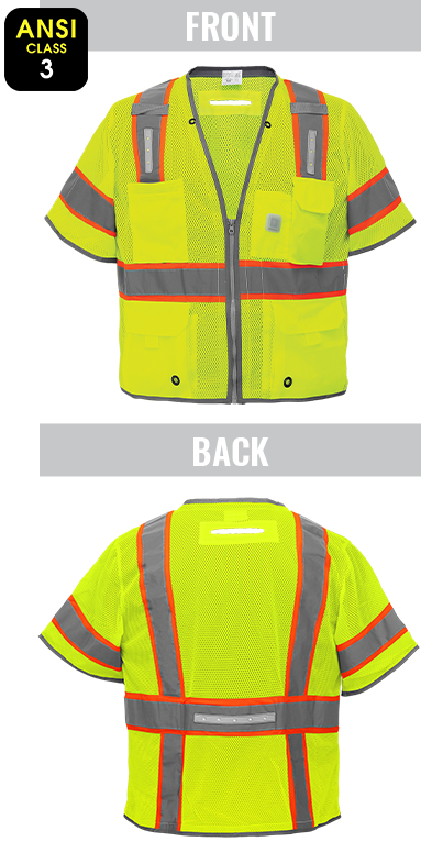 GLO-315LED - FrogWear® HV - Premium High-Visibility Surveyors LED Safety Vest