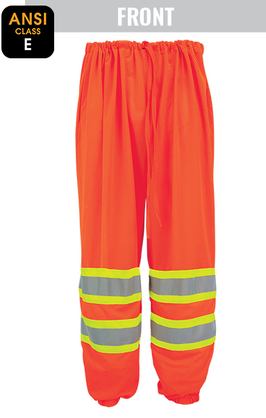GLO-4P - FrogWear® HV - High-Visibility Mesh Polyester Safety Pants