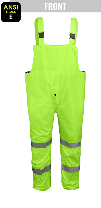 GLO-8000 - FrogWear® HV - 3-Piece High-Visibility Yellow/Green Rain Suit