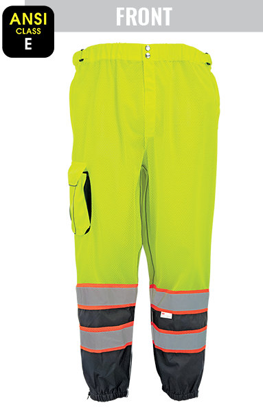 GLO-88P - FrogWear® HV - High-Visibility Premium Lightweight Breathable Safety Pants