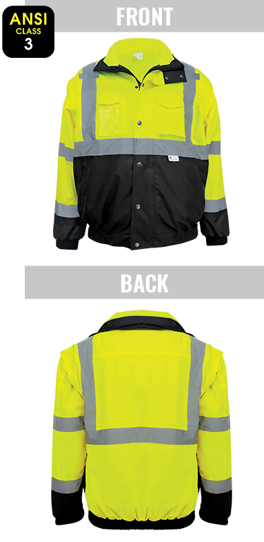 GLO-B2 - FrogWear® HV - High-Visibility Eight-in-One Winter Bomber Jacket