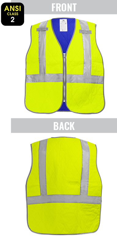 GLO-CV1 - Bullhead Safety® High-Visibility Evaporative Cooling Vest