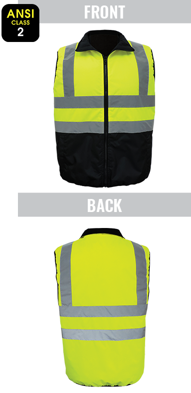 GLO-V1 - FrogWear® HV - High-Visibility Reversible Insulated Safety Vest