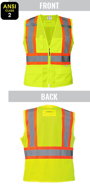 GLO-W0037 - FrogWear® HV - Women's Fitted High-Visibility Surveyors Safety Vest