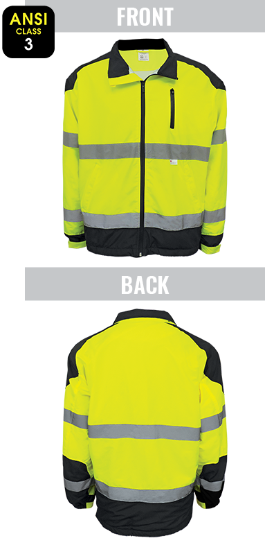 GLO-WB1 - FrogWear® HV - High-Visibility Premium Windbreaker Jacket