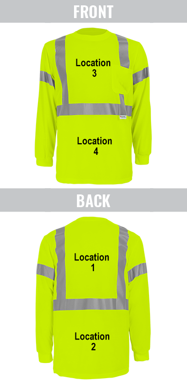 Shirt Imprinting Locations Guide