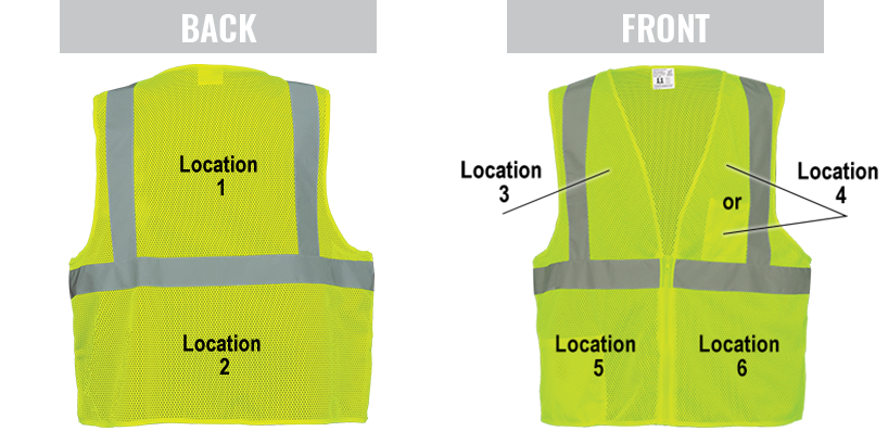 Vest Imprinting Locations