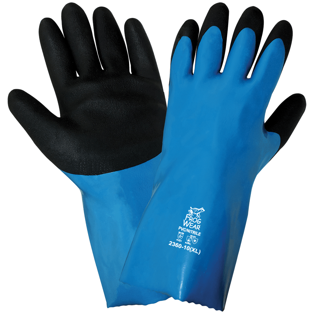 FrogWear® Premium Super Flexible Waterproof Chemical Handling Retail Tagged Gloves - 2360