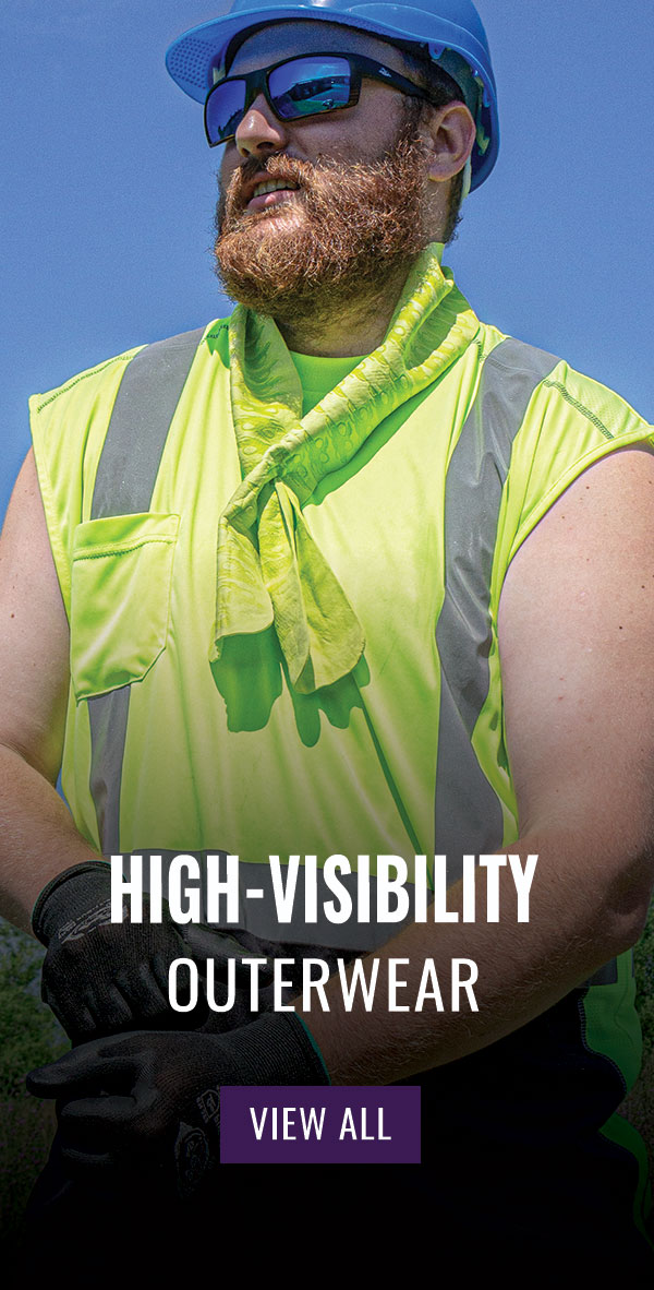 FrogWear® HV High-Visibility Black Bottom Sleeveless Safety Shirt - GLO-202