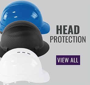 Bullhead Safety™ Head Protection Unvented Cap Style Hard Hat With Six-Point Slide Lock Suspension