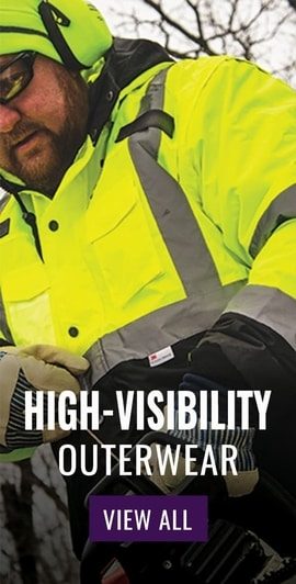 FrogWear® HV High-Visibility Black Interior Winter Bomber Jacket - GLO-EB1